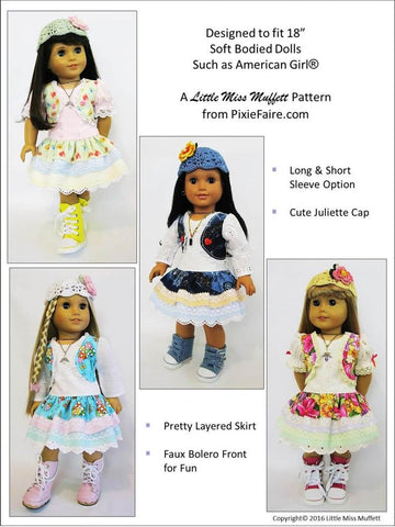 "Pinkie 18"" Doll Clothes Pattern"