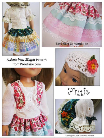 "Pinkie Dress 14.5"" Doll Clothes Pattern"