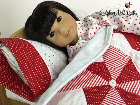 "Pinwheel Party 18"" Doll Quilt Pattern"