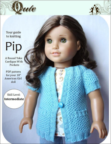 Qute Knitting Pip Cardigan Knitting Pattern Pixie Faire