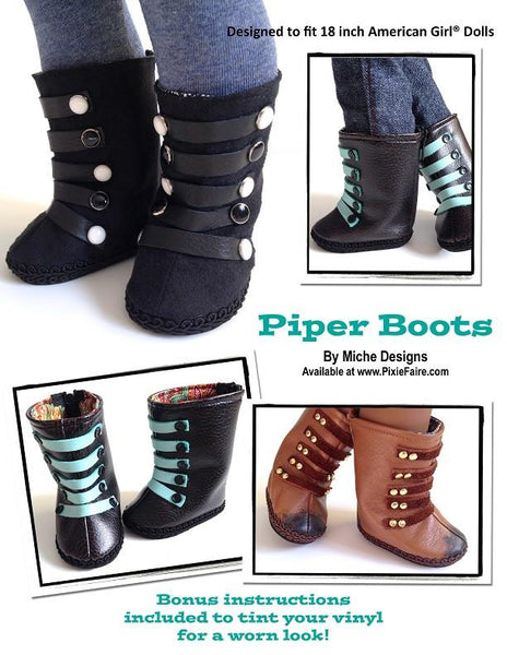 Miche Designs Piper Boots Doll Clothes Pattern 18 Inch