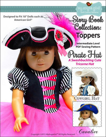 "Pirate Hat Story Book Collection: Toppers 18"" Doll Clothes"