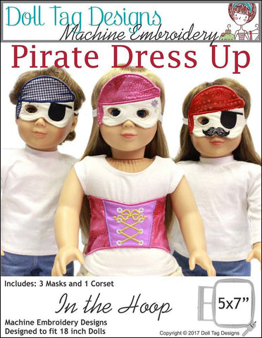 Pirate Dress Up Machine Embroidery Designs