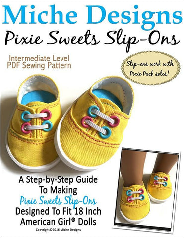 "Pixie Sweets Slip-Ons 18"" Doll Shoes"