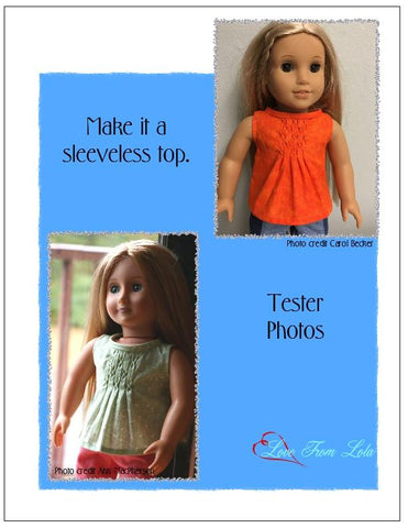 "Love From Lola 18 Inch Modern Pleated Dress 18"" Doll Clothes Pattern Pixie Faire"