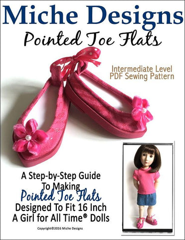 Pointed Toe Flats for AGAT Dolls