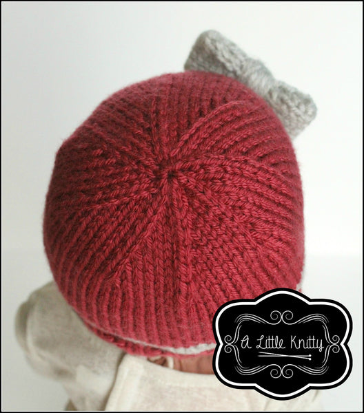 A Little Knitty Portia Bow Hat Doll Clothes Knitting
