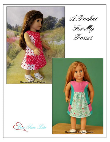 "A Pocket For My Posies 18"" Doll Clothes Pattern"