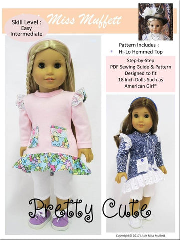 "Pretty Cute 18"" Doll Clothes Pattern"