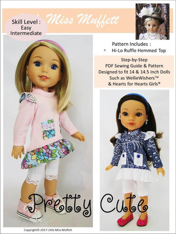 "Pretty Cute 14-14.5"" Doll Clothes Pattern"