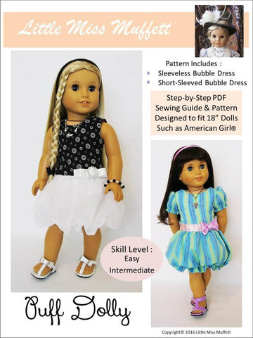 "Puff Dolly 18"" Doll Clothes Pattern"