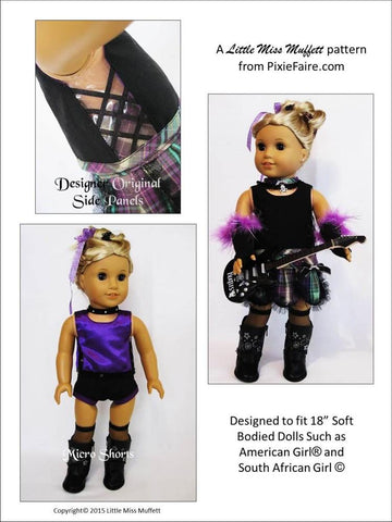 "Punk Rock Princess 18"" Doll Clothes Pattern"