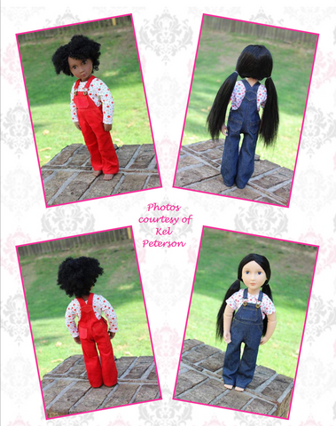Oh My Gosh Overalls Pattern For AGAT Dolls