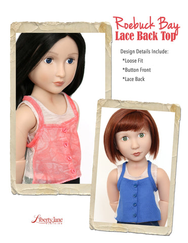 Roebuck Bay Lace Back Top for AGAT Dolls