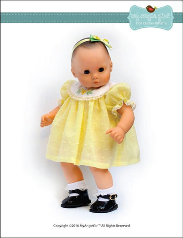 "Round Collar Dress and Bloomers 15"" Doll Clothes"