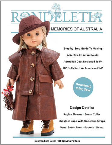 "Memories Of Australia 18"" Doll Clothes Pattern"