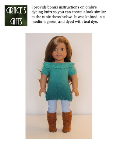 "Refined & Ruffled 18"" Doll Knitting Pattern"