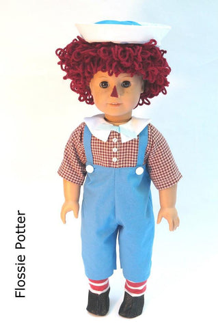 "Raggedy Boy Doll Costume 18"" Doll Clothes"