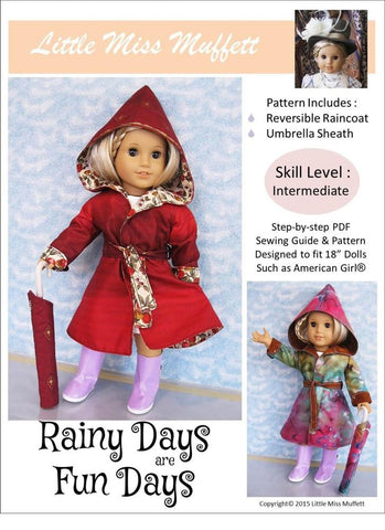"Little Miss Muffett 18 Inch Modern Rainy Days Are Fun Days 18"" Doll Clothes Pixie Faire"