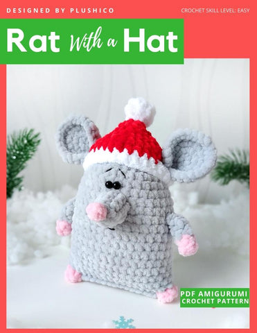 Rat With A Hat Amigurumi Crochet Pattern