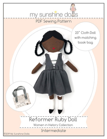"Reformer Ruby 23"" Cloth Doll Pattern"