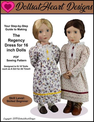 The Regency Dress Pattern For A Girl For All Time Dolls