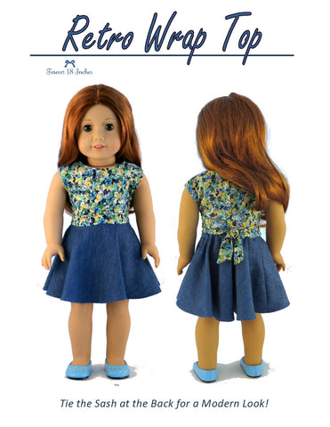 "Retro Wrap Top 18"" Doll Clothes"