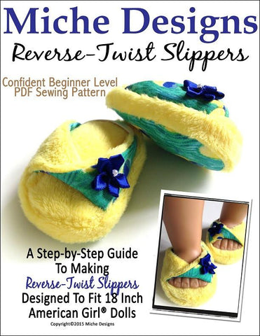 "Reverse-Twist Slipper 18"" Doll Shoes"