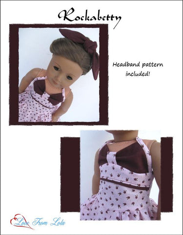 18 inch PDF doll clothes pattern 1950s summer dress designed to fit American Girl