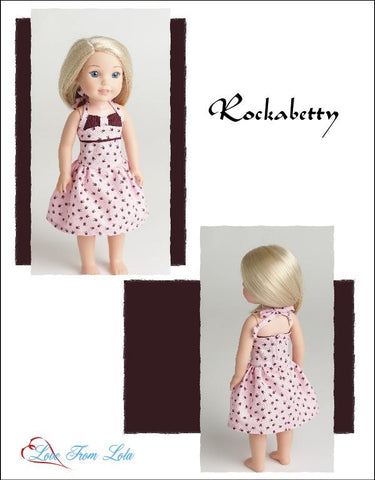 "14.5"" doll clothes pdf sewing pattern 1950's dress designed to fit WellieWishers"
