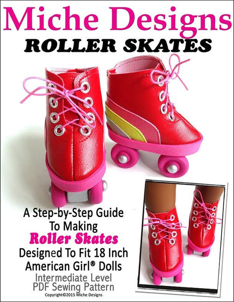 Miche Designs Roller Skates Doll Clothes Pattern 18 Inch