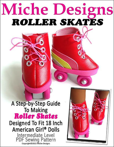 "Roller Skates 18"" Doll Shoes"