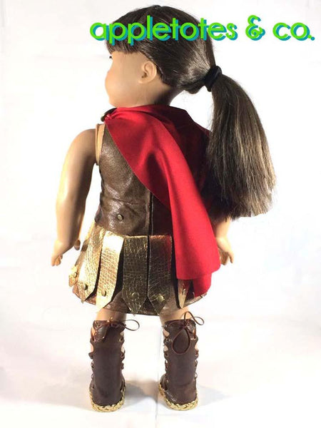 Appletotes Amp Co Roman Gladiator Costume Doll Clothes