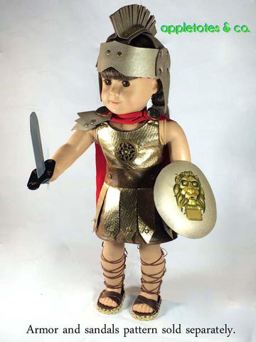 "Roman Gladiator Costume 18"" Doll Clothes Pattern"