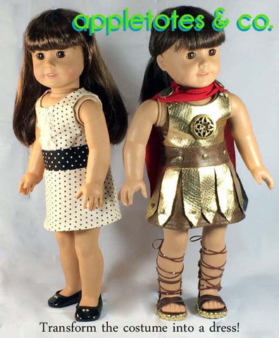 "Roman Gladiator Bundle 18"" Doll Clothes Pattern"