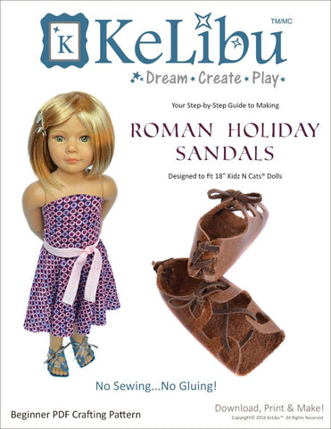 Roman Holiday Sandals for Kidz N Cats Dolls