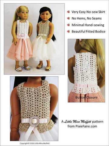 Romantic Fusion Crochet Pattern for Kidz N Cats Dolls