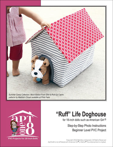 """Ruff"" Life Doghouse PVC Pattern"