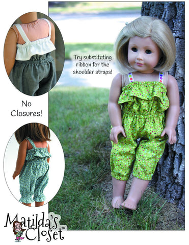 "Ruffled Romper 18"" Doll Clothes"
