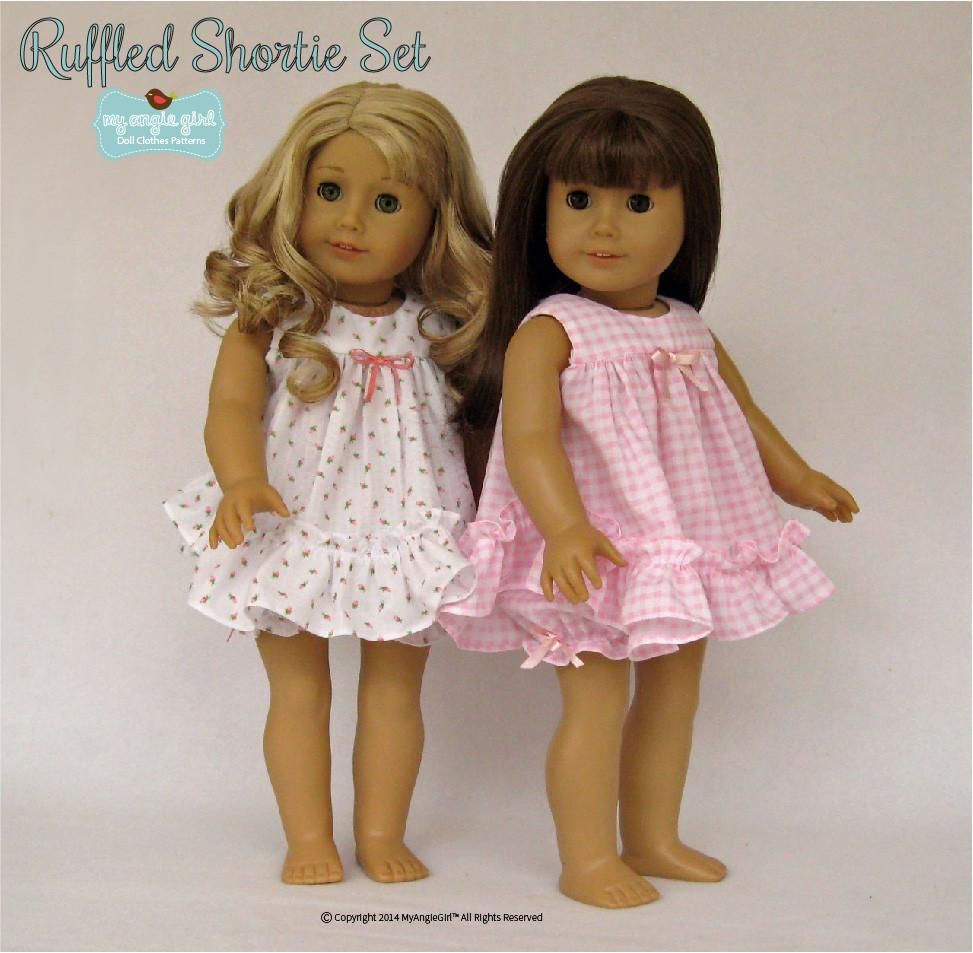 My Angie Girl Ruffled Shortie Set Doll Clothes Pattern 18 ...
