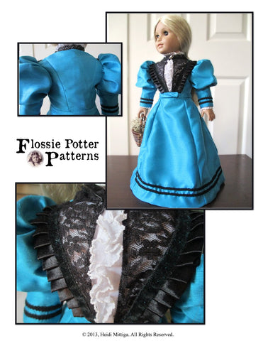 "1896 Susan B. Anthony Outfit 18"" Doll Clothes Pattern"