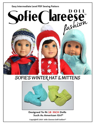 "Sofie's Winter Hat & Mittens 18"" Doll Accessories"