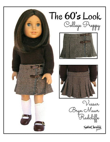 "Sofie's Retro Kilt Skirt 18"" Doll Clothes Pattern"