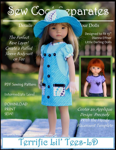 Sew Cool Separates Little Darling Terrific Lil' Tees Pattern for Little Darling Dolls Pixie Faire