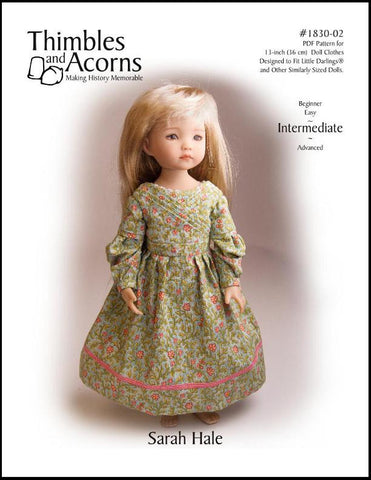 1830's Sarah Hale Dress Pattern for Little Darling Dolls
