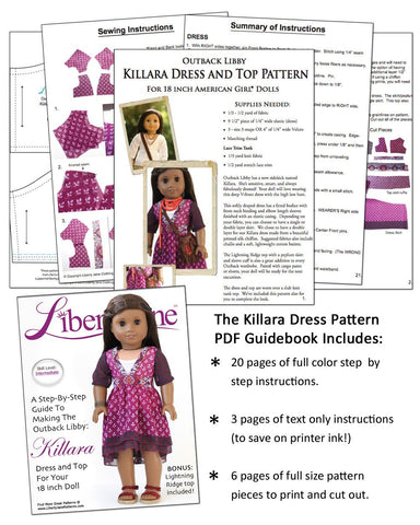 CD Doll Clothes Pattern Bundle - Outback Libby Collection