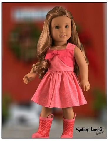 Sofie Clareese Fashion Sofie's Pleasant Day Sundress designed to fit 18 inch American Girl dolls