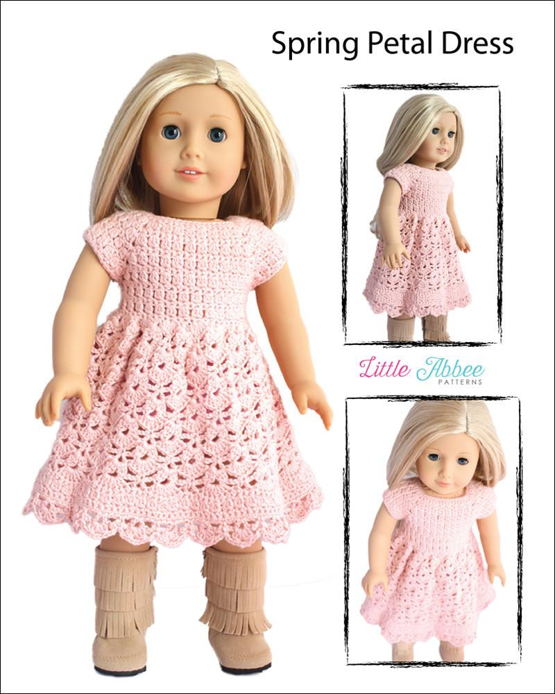 Little Abbee Spring Petal Dress Doll Clothes Pattern 18 inch ...