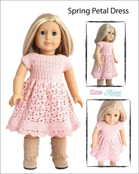 Little Abbee Spring Petal Dress Doll Clothes Pattern 18