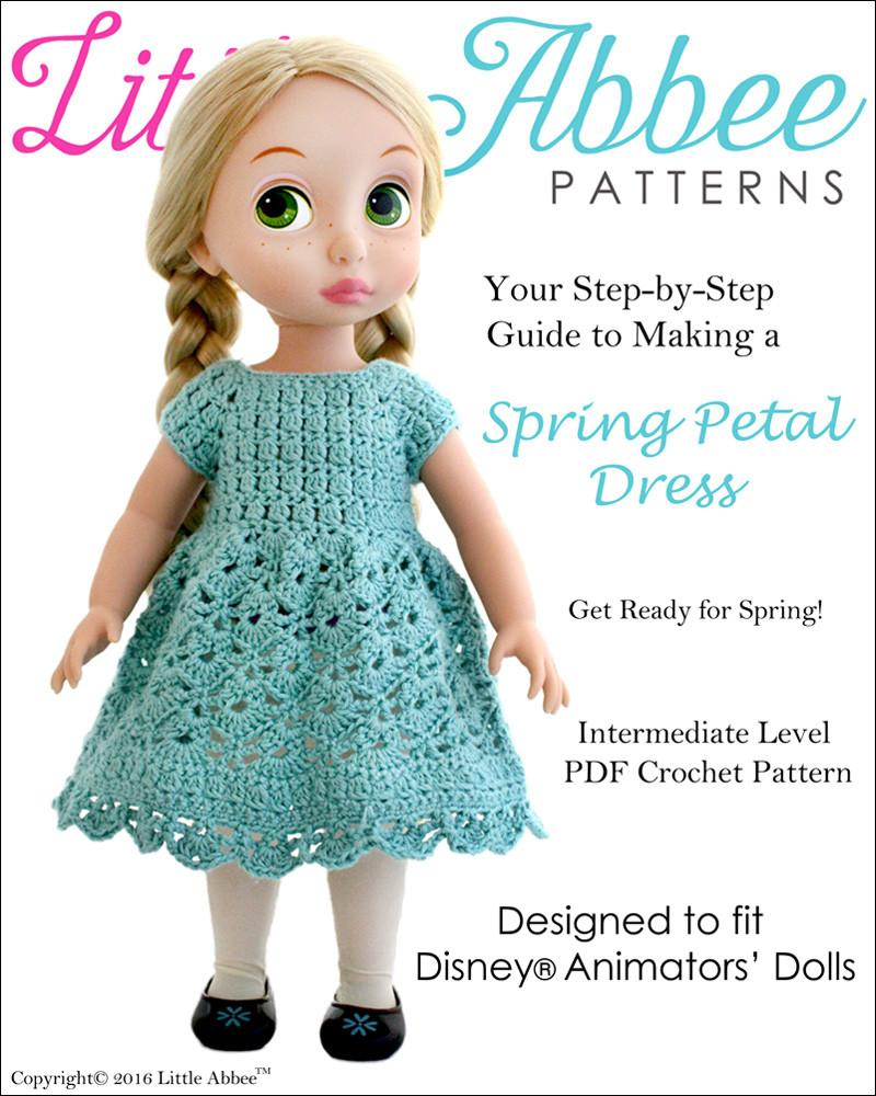 Little Abbee Spring Petal Dress Doll Clothes Pattern Disney